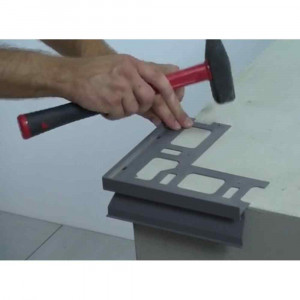 Profilo ad angolo esterno in alluminio verniciato per balconi 125mm Proterrace Drain FDP Progress Profiles