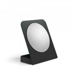 Specchio ingranditore in alluminio antracite 55864.17 Lineabeta