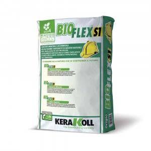 Adesivo minerale deformabile eco-compatibile per incollaggio 25Kg Bioflex S1 Kerakoll