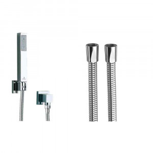 Kit Duplex con supporto Cube con flessibile cromo 150cm Quadro Bossini