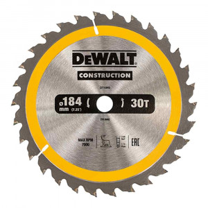 Lama circolare portatile 30 denti 184x16 DT1940 DeWalt