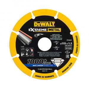 Disco extreme diamond metallo Dewalt