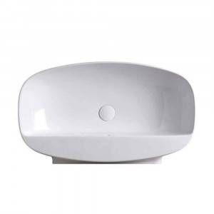 Lavabo bianco 75cm con piano rubinetteria Nudaslim ND75PR Flaminia Ceramica