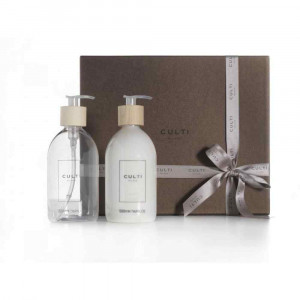 Cofanetto regalo con sapone e crema mani fragranza Oficus 500ml Welcome Culti
