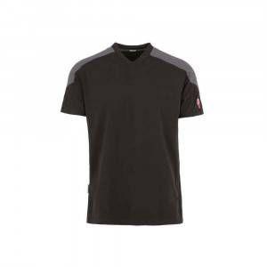T-Shirt Inn-Rio Hondo con collo a V colore Nero e Grigio Ducati Workwear