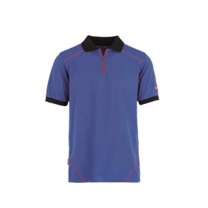 Polo manica corta con zip INN-DOHA Colore Blue Royal 22DUC5 Ducati Workwear