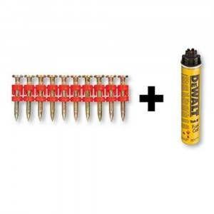 Chiodi XH per chiodatrice C5 Track-it confezione 800pz + Bombola gas DeWalt