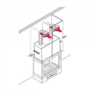 Kit in alluminio per canalizzazione aria calda Edilkamin / Italiana Camini