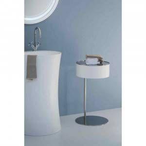 Tavolino porta oggetti con specchio giallo One-Two Arlex