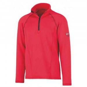 Pile mezza zip rosso/nero 31DUC1 Inn Grid Ducati Workwear