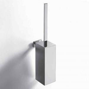Porta scopino quadro a muro cromo Basic Colombo Design