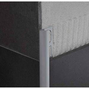 Profilo in alluminio anodizzato argento lunghezza 270 cm Protrim Profilpas