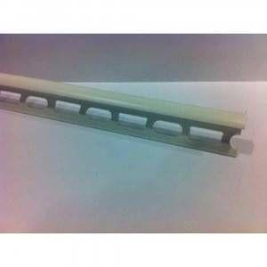 Profilo in PVC co-estruso colore bianco puro ral 9010 lunghezza 270cm Protrim Profilpas