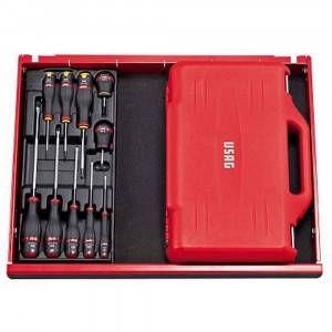 Assortimento in cassetta con bussole esagonali ed inserti per avvitatura 100 pezzi U06010011 Usag