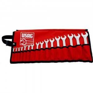 Kit 16 chiavi combinate in borsa avvolgibile 285 J/B16 U02851740 Usag