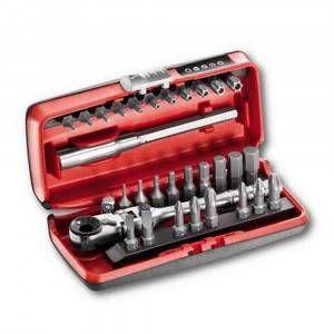 Kit Assortimento inserti 31 pz con cricchetto reversibile U06060012 6061/4 SK Usag