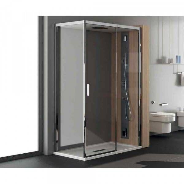 Box doccia porta battente 120x80cm art nc8b6 chapeau teuco - Box doccia porta battente ...