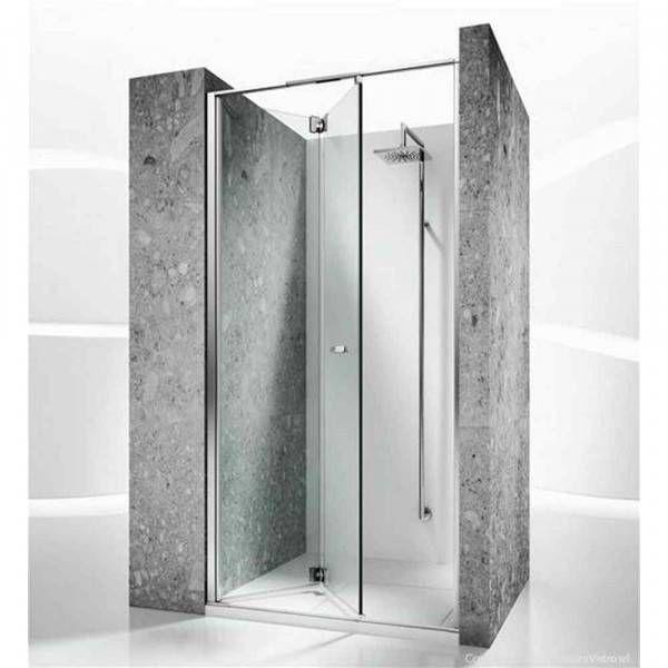 Cabina doccia senza telaio con porta pieghevole e serigrafia apert dx replay rn vismara vetro - Box doccia senza telaio ...